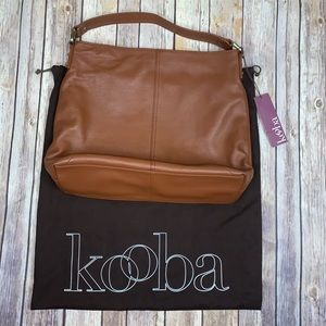NWT kooba leather hobo bag
